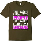 Kids Farm n Fancy: Love My Chickens More Than People T Shirt 10