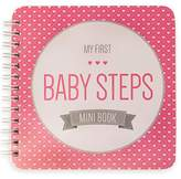 """Baby Steps Book NEW! Baby First Year Memory Mini Book. """"Modernista""""(TM), Poly Cover Hand Made. Intimate, travel size memory keeper record book and journal for Boy or Girl. 5x5"""""""