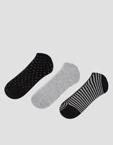 Pull&Bear 3 Pack Sneaker Socks