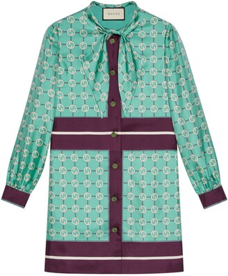Gucci Interlocking G print silk dress