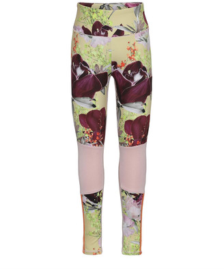 Molo Girl's Olympia Orchid Printed HeiQ Leggings, Size 3T-16