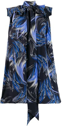 Givenchy Knot Detail Printed Dress