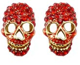 Butler & Wilson Butler and Wilson Red Siam Crystal Skull Earrings