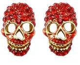 Butler & Wilson Butler and Wilson Red Siam Crystal Skull Earrings