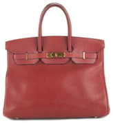Hermes Sienne Fjord Leather Gold Tone 35 Cm Birkin Tote Handbag EVHB