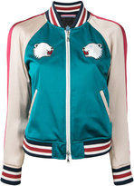 GUILD PRIME bear embroidered bomber jacket - women - Polyester - 34