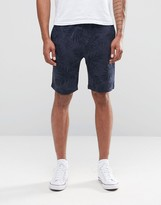 Celio Jersey Short With All Over Print Detail