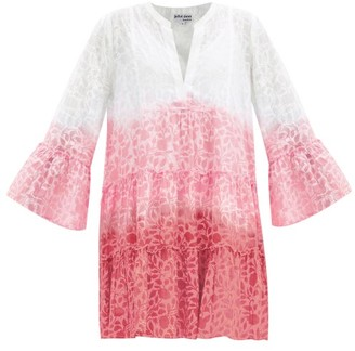 Juliet Dunn Tiered Floral-print Ombre Cotton-voile Dress - Pink Print