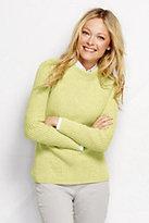 Classic Women's Cotton Shaker Sweater-Jewel Green Mosaic