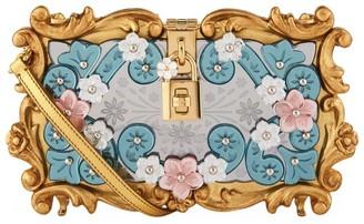 Dolce & Gabbana Floral Padlock Clutch Bag