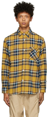 Beams Yellow and Blue Check Shaggy Shirt