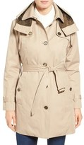 London Fog Single Breasted Trench Coat (Regular & Petite)