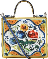 Dolce & Gabbana Maiolica Print Box Bag