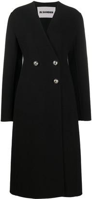 Jil Sander Asymmetric Double-Breasted Coat