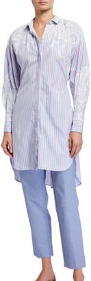 Etro Stripe Filigree Cotton Tunic