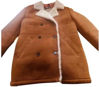 Paul & Joe Camel Shearling Coat for Women