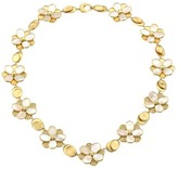 Marco Bicego Petali 18K Yellow Gold, Diamond Pave & Mother-Of-Pearl Flower Collar Necklace