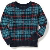 Old Navy Plaid Crew-Neck Sweater for Toddler Boys