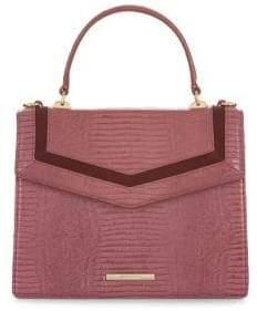 Brahmin Mini Rose Thornfield Francine Leather Satchel