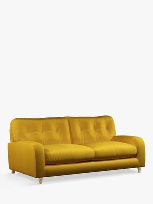 loaf Squishmuffin Medium 2 Seater Sofa by at John Lewis, Clever Velvet Bumblebee
