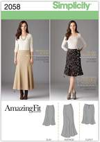 Simplicity Sewing Pattern 2058 Misses' and Plus Size Amazing Fit Skirt