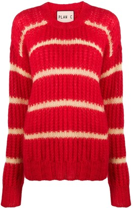 Plan C Striped Chunky-Knit Jumper