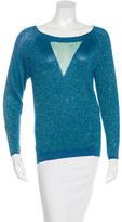Maje Metallic Long Sleeve Sweater