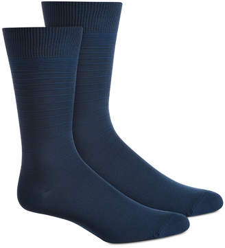 Perry Ellis Men Textured Stripes Socks