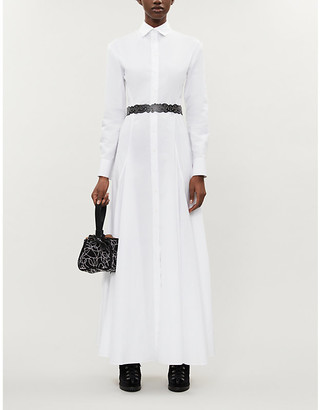 Alaia AZZEDINE Cotton-poplin midi dress