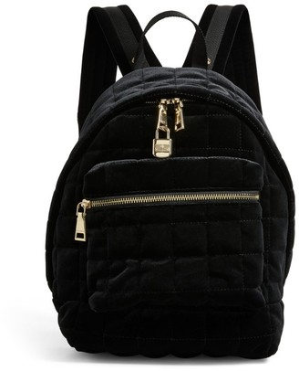 Sandro Paris Quilted Velvet Backpack