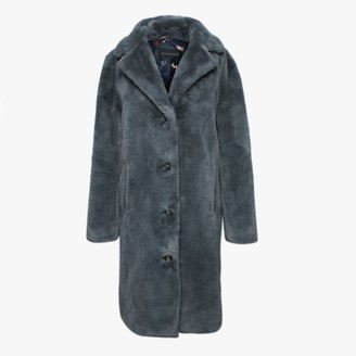 Oakwood Cyber Grey Faux Fur Coat