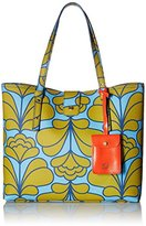 Orla Kiely Damask Flower Textured Vinyl Tillie Top Handle Bag