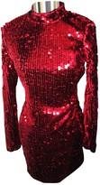 Vicolo Red Glitter Dress for Women