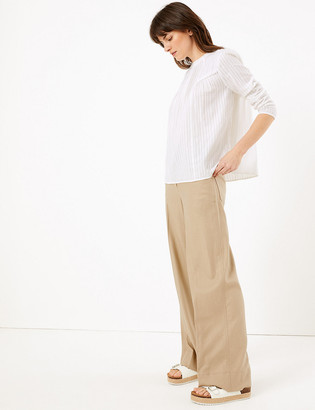 Marks and Spencer Linen Wide Leg Trousers