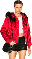 Unravel Bomber Fur Hooded Jacket