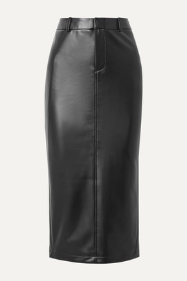 Alexander Wang Faux Stretch-leather Midi Skirt - Black