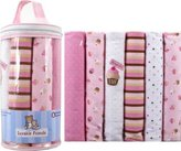 Luvable Friends Flannel Receiving Blankets, Pink, 6 Count by