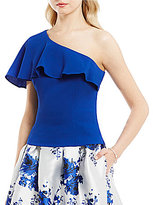 Eliza J One Shoulder Ruffle Top