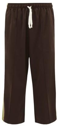 Gucci Side-stripe Jersey Track Pants - Mens - Brown