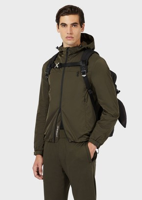 Emporio Armani Travel Essentials Packable Jacket In Japanese Technical Twill