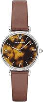 Emporio Armani Women's Brown Leather Strap Watch 32mm AR1873