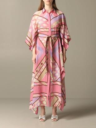 Emilio Pucci Dress Long Shirt Dress With Vivara Print