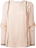 3.1 Phillip Lim zip sleeve top - women - Silk/Cotton/Viscose - 2