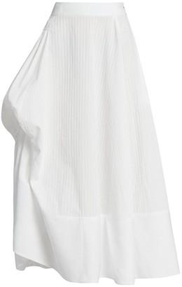Loewe Asymmetric Cotton Midi Skirt