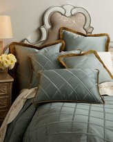 Dian Austin Couture Home Diamond-Trellis European Sham w/ Brush Fringe