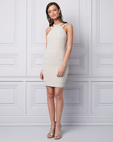 Le Château Sparkle Knit Banded Cocktail Dress