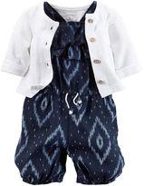 Carter's 2-pc. Sleeveless Romper and Cardigan Set - Baby Girls newborn-24m