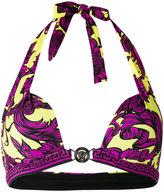 Versace Baroque print bikini top - women - Polyamide/Spandex/Elastane - 10