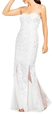 Aidan Mattox Embellished Strapless Gown