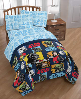 Star Wars Galactic Grid Twin 4-Pc. Bed in a Bag Bedding